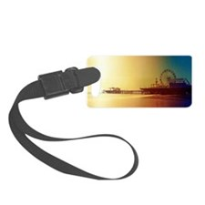 Pier Orange Sunrise Luggage Tag