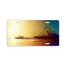 Pier Orange Sunrise Aluminum License Plate