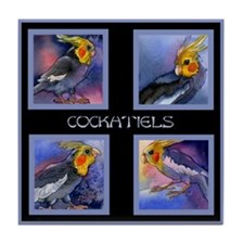 Cockatiel Parrots Tile Coaster