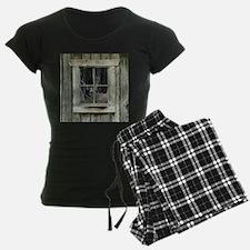 Old Cabin Window Buck 1 Pajamas