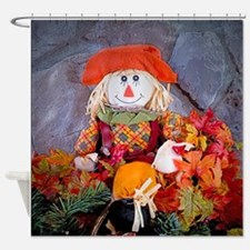 Scarecrow Holiday Shower Curtain
