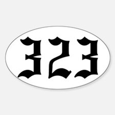 """""""323"""" Oval Decal"""