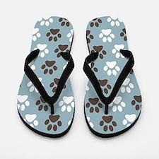 Paw Print Pattern Flip Flops