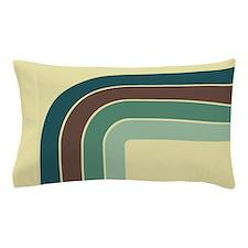 Retro Blue-Green Curve Pillow Case