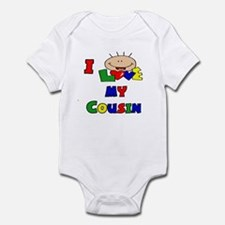 I Love My Cousin Cute Baby/Toddler bodysuits