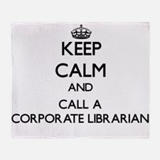 Keep calm and call a Corporate Libra Throw Blanket