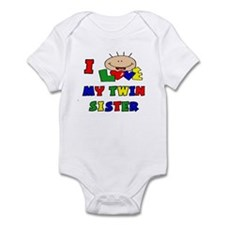 I Love My Twin Sister CUTE Baby/toddler bodysuits
