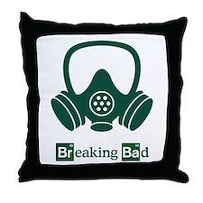 Breaking Bad Gas Mask 1 Throw Pillow