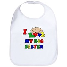 I Love My BIG Sister CUTE Bib