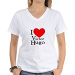 Love Victor Hugo Women's V-Neck T-Shirt