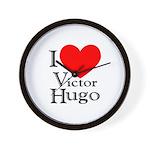 Love Victor Hugo Wall Clock