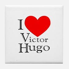 Love Victor Hugo Tile Coaster