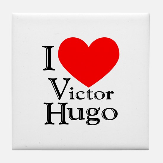 Love Victor Hugo Tile Coaster