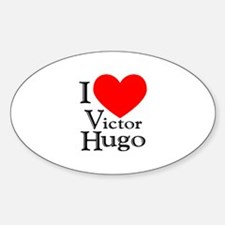 Love Victor Hugo Oval Decal