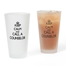 Keep calm and call a Counselor Drinking Glass