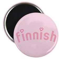 """Finnish with Hearts"" Magnet"