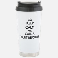 Keep calm and call a Co Stainless Steel Travel Mug