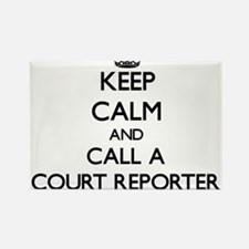 Keep calm and call a Court Reporter Magnets