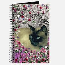 Stella Siamese Cat Flowers Journal