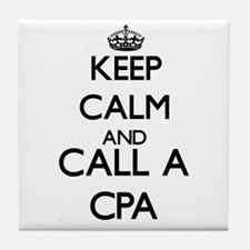 Keep calm and call a Cpa Tile Coaster