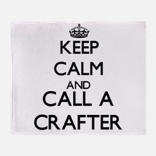Keep calm and call a Crafter Throw Blanket