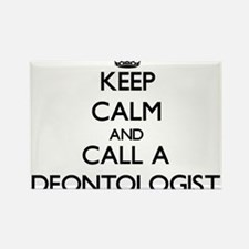 Keep calm and call a Deontologist Magnets