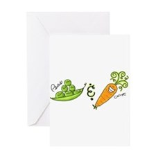 Cute Veggies Greeting Card