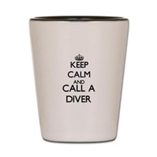 Keep calm and call a Diver Shot Glass
