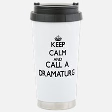Keep calm and call a Dr Stainless Steel Travel Mug