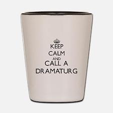 Keep calm and call a Dramaturg Shot Glass