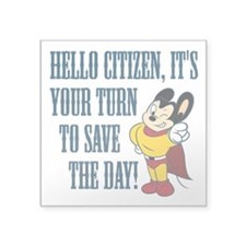 "Mighty Citizen Square Sticker 3"" x 3"""