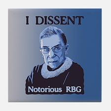 Notorious RBG Tile Coaster