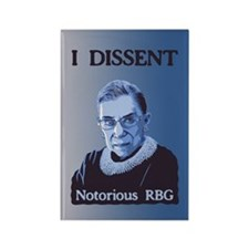 Notorious RBG Rectangle Magnet