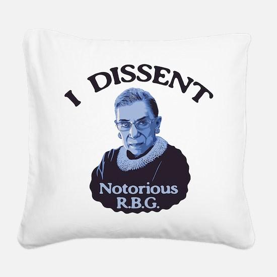 Notorious RBG Square Canvas Pillow
