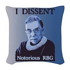 Notorious RBG Woven Throw Pillow