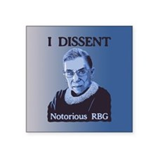 "Notorious RBG Square Sticker 3"" x 3"""