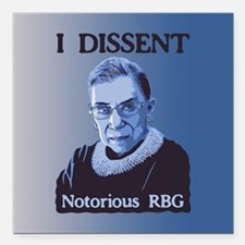 "Notorious RBG Square Car Magnet 3"" x 3"""