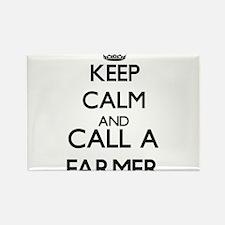 Keep calm and call a Farmer Magnets