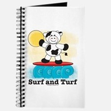 Surfing Cow Surfboard Journal Notebook Sketchbook