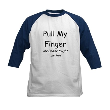 Pull My Finger Kids Baseball Jersey