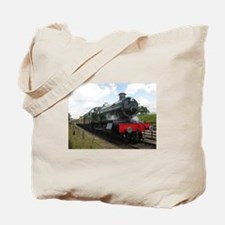 Vintage steam engine by Tom Conway Art. R Tote Bag