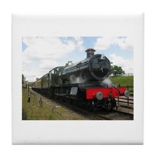 Vintage steam engine by Tom Conway Ar Tile Coaster