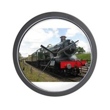 Vintage steam engine by Tom Conway Art. Wall Clock