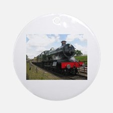 Vintage steam engine by Tom Conwa Ornament (Round)