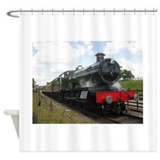 Vintage steam engine by Tom Conway Shower Curtain