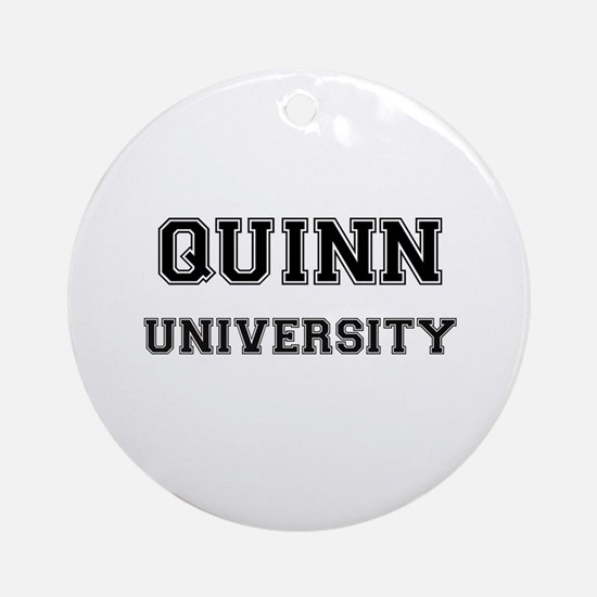 QUINN UNIVERSITY Ornament (Round)
