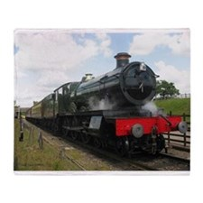 Vintage steam engine by Tom Conway A Throw Blanket
