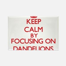 Keep Calm by focusing on Dandelions Magnets