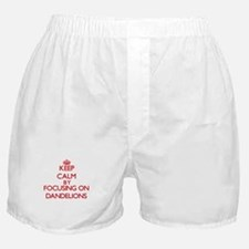 Keep Calm by focusing on Dandelions Boxer Shorts
