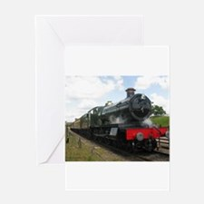 Vintage steam engine by Tom Conway Greeting Cards
